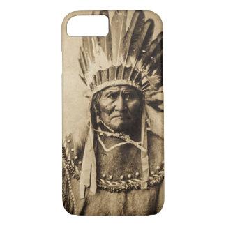 Geronimo in Head Dress Vintage Portrait Sepia iPhone 7 Case