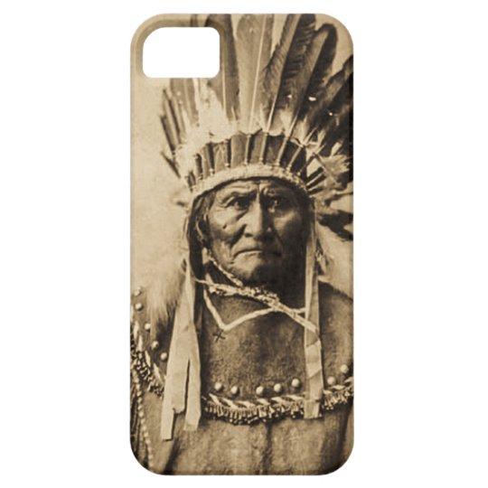 Geronimo in Head Dress Vintage Portrait Sepia iPhone SE/5/5s Case
