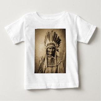 Geronimo in Head Dress Vintage Portrait Sepia T Shirt