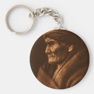 Geronimo Basic Round Button Keychain