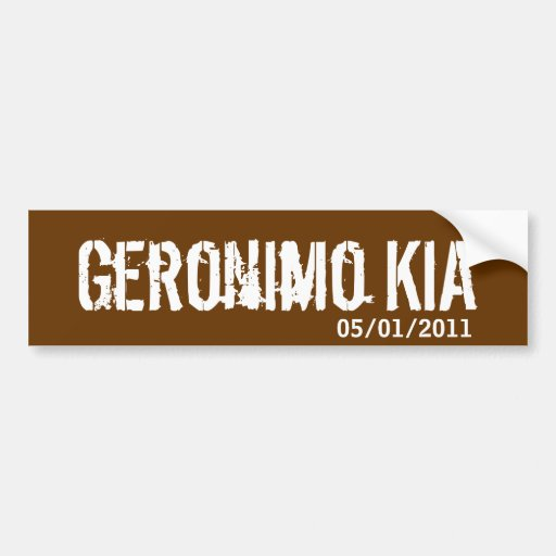 Geronimo KIA - justicia servida Pegatina De Parachoque