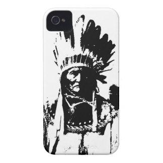 Geronimo negro y blanco Case-Mate iPhone 4 fundas