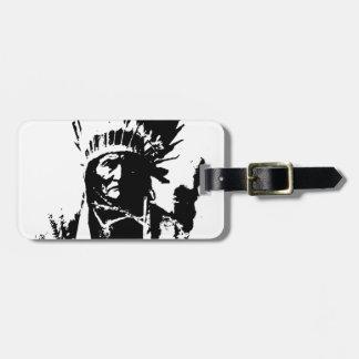 Geronimo negro y blanco etiquetas bolsa