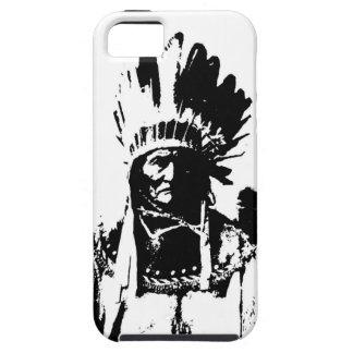Geronimo negro y blanco iPhone 5 carcasas