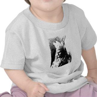 Geronimo negro y blanco camisetas