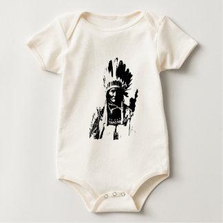 Geronimo negro y blanco traje de bebé