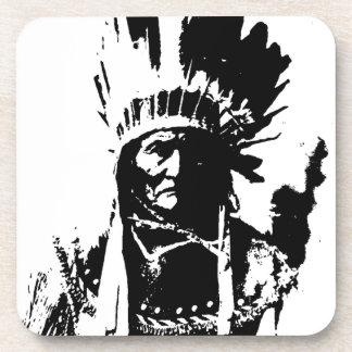 Geronimo negro y blanco posavasos