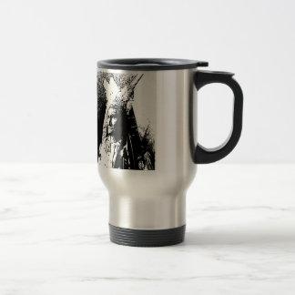 Geronimo negro y blanco taza