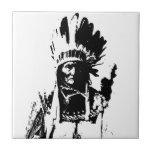 Geronimo negro y blanco tejas