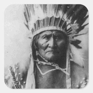 Geronimo Pegatina Cuadrada