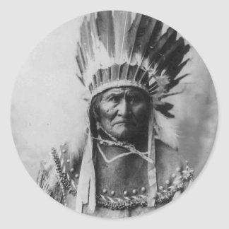 Geronimo Pegatina Redonda