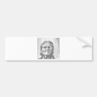 geronimo pencil.PNG Geronimo drawing Bumper Stickers