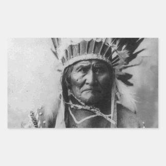 Geronimo Rectangular Sticker