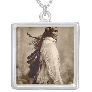'GERONIMO!' SILVER PLATED NECKLACE