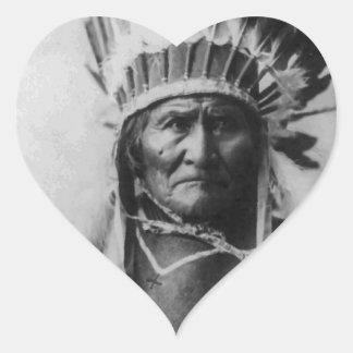 Geronimo Heart Sticker