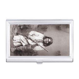 Geronimo Vintage Native American Apache Business Card Holder