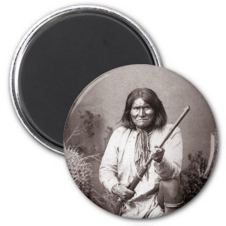 Geronimo Vintage Native American Indian Warrior 2 Inch Round Magnet