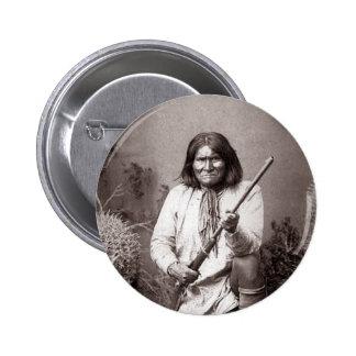 Geronimo - vintage pin redondo de 2 pulgadas