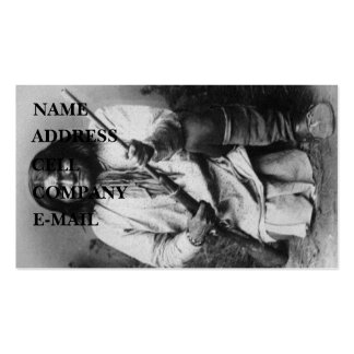 'Geronimo with Gun at the Ready' Double-Sided Standard Business Cards (Pack Of 100)