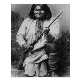 Geronimo with Gun at the Ready Posters