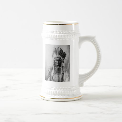 'Geronimo with Headdress' Beer Stein