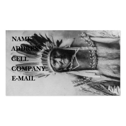 'Geronimo with Headdress' Business Card Templates