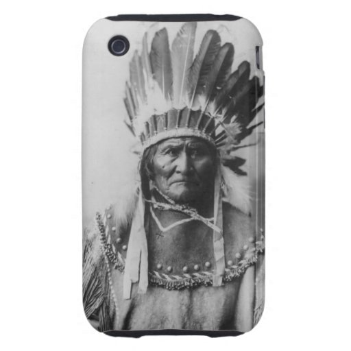 'Geronimo with Headdress' iPhone 3 Tough Covers