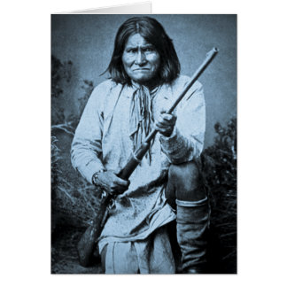 Geronimo with Rifle 1886 Card
