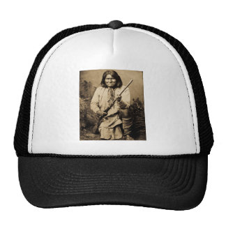 Geronimo with Rifle 1886 Trucker Hat