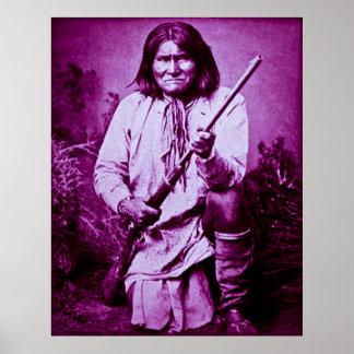 Geronimo with Rifle 1886 Print