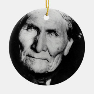 'Geronimo's Intensity' Double-Sided Ceramic Round Christmas Ornament