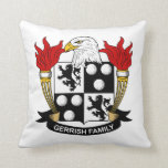 Gerrish Family Crest Throw Pillows