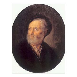 Gerrit Dou- Bust of a Man Postcard