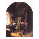 Gerrit Dou- Interior with a Young Violinist Postcards