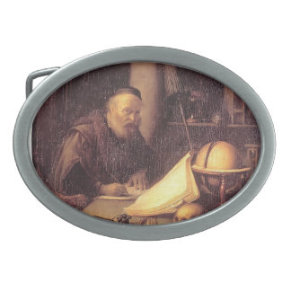 Gerrit Dou- Man Interrupted at His Writing Belt Buckles