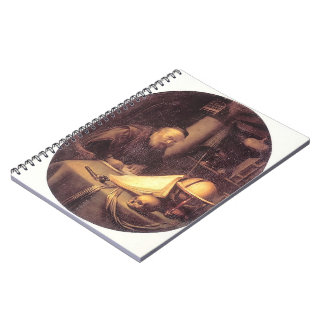 Gerrit Dou- Man Interrupted at His Writing Spiral Notebooks