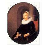 Gerrit Dou- Portrait of a Woman Postcard
