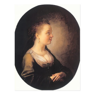 Gerrit Dou- Portrait of a Young Woman Post Cards