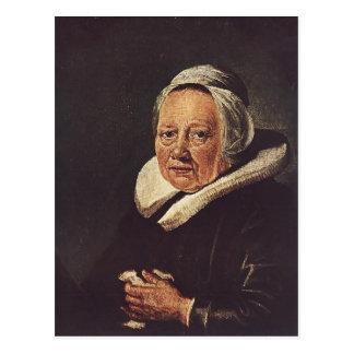Gerrit Dou- Portrait of an Old Woman Postcard