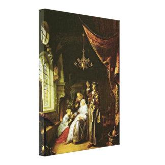 Gerrit Dou - The Dropsical Woman Canvas Print
