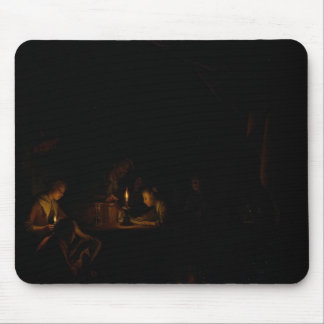 Gerrit Dou- The Night School Mouse Pad