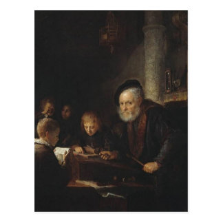 Gerrit Dou- The Teacher Post Card