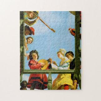 Gerrit Van Honthorst Musical Group Balcony Art Jigsaw Puzzle