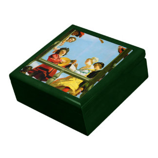 Gerrit Van Honthorst Musical Group Balcony Art Keepsake Box