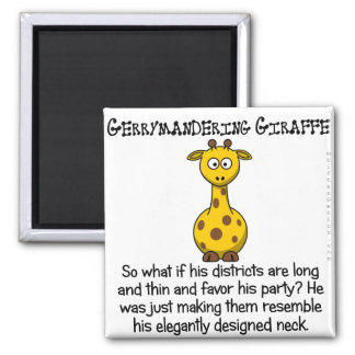 Gerrymandering congressional districts 2 inch square magnet