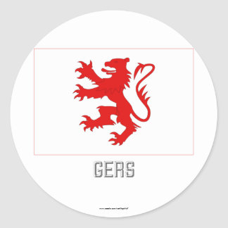 Gers flag with name classic round sticker