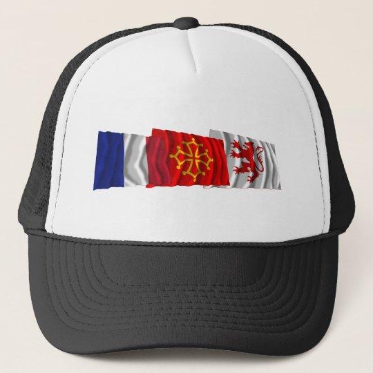 Gers, Midi-Pyrénées & France flags Trucker Hat