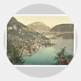Gersau and Frohnalpstock Lake Lucerne Switzerlan Sticker