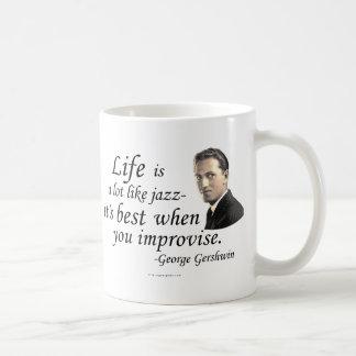 Gershwin on Life Coffee Mug