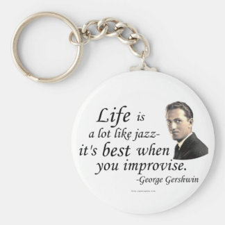 Gershwin on Life Key Chains